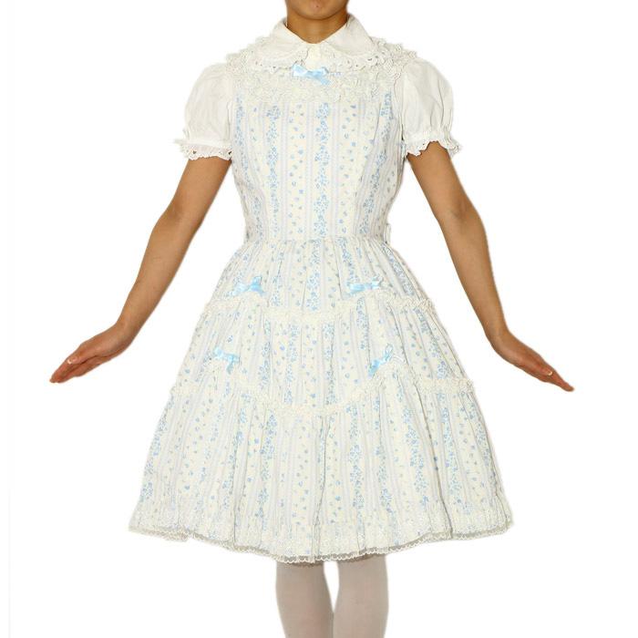 妖精と貴婦人のドレスInnocent Worldの花柄ジャンパースカート
